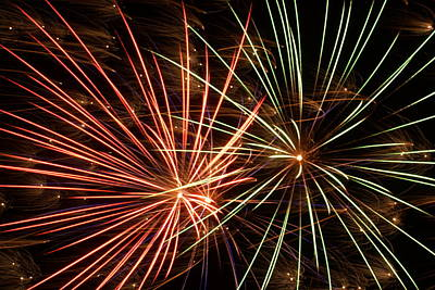 Photograph - Fireworks -15 by Ron Read