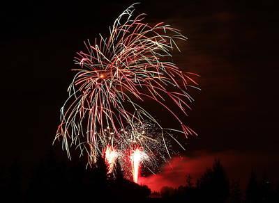 Fireworks 4 Art Print by Donna Barker