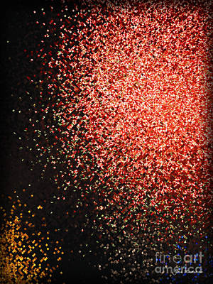 Photograph - Fireworks Abstract  by Joan  Minchak