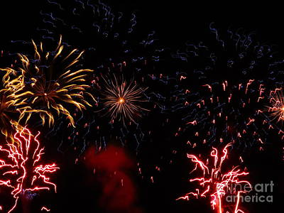 Photograph - Fireworks At Oshkosh Airventure 2012. 01 by Ausra Huntington nee Paulauskaite