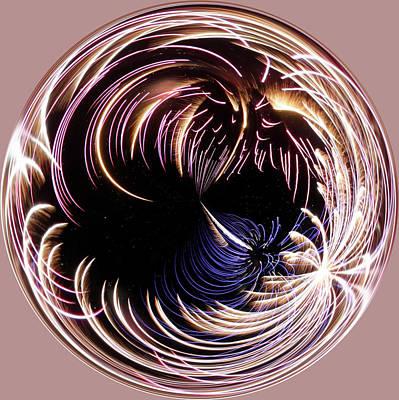 Fireworks I Orb Art Print by Sandi Blood