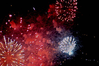 Art Print featuring the photograph Fireworks II by Kelly Hazel
