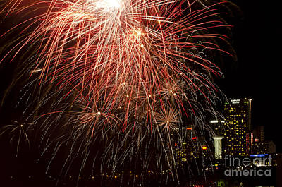 Photograph - Fireworks In Niagara Falls by JT Lewis