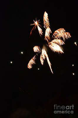 Photograph - Fireworks In Texas by Donna Brown