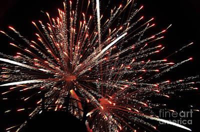 Photograph - Fireworks by John Black