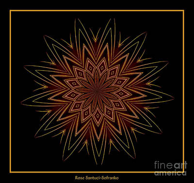 Photograph - Fireworks Kaleidoscope 9 by Rose Santuci-Sofranko
