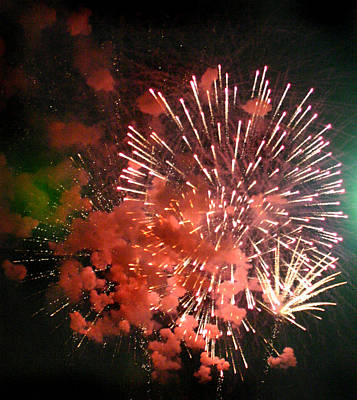 Art Print featuring the photograph Fireworks by Kelly Hazel