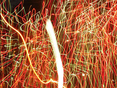 Photograph - Fireworks by Kimber  Butler