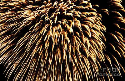 Bastille Day Celebration Photograph - Fireworks Light Up The Sky by Sami Sarkis