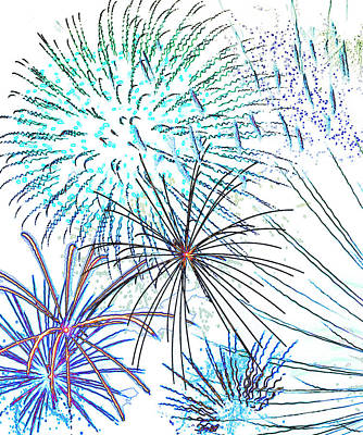 Painting - Fireworks by Methune Hively