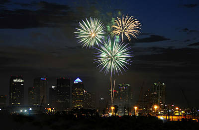 Fireworks Of Tampa Art Print by David Lee Thompson