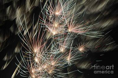 Fireworks On Bastille Day Art Print by Sami Sarkis