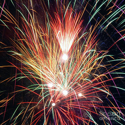Photograph - Fireworks One by Ronald Grogan