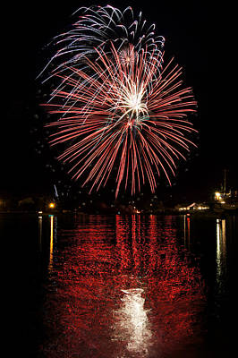 Photograph - Fireworks Reflections by Bill Pevlor