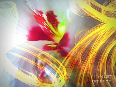 Althea Digital Art - Fireworks by Renee Trenholm