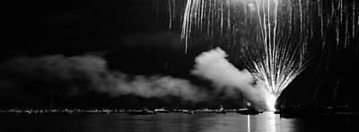 Fireworks Tahoe Ca Art Print by Isak Hanold