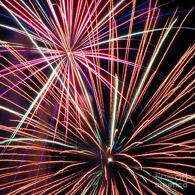 Photograph - Fireworks Three by Ronald Grogan