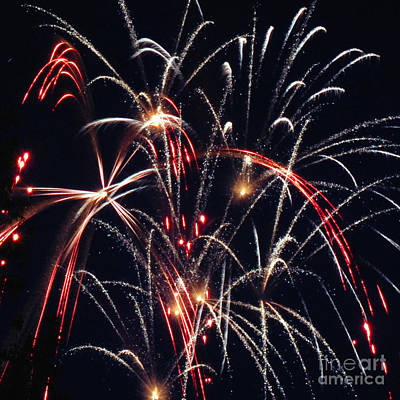 Photograph - Fireworks Two by Ronald Grogan