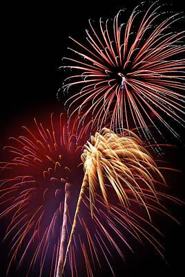 Fireworks Wixom 3 Art Print by Michael Peychich