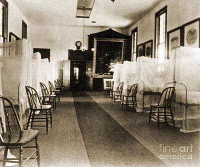 Netting Photograph - First Aid Hospital Exhibit, 1876 by Science Source