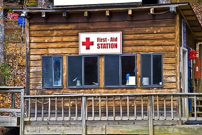 First Aid Station Art Print by Susan Leggett