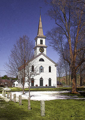 Photograph - First Baptist Church Of Cornish Cornish New Hampshire by Nancy Griswold