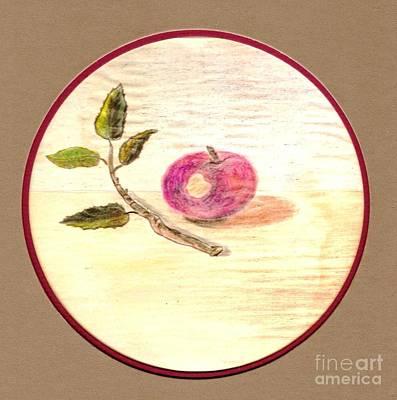 First Bite Of Apple Art Print