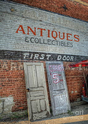 Old Door Photograph - First Door Antiques by Pamela Baker