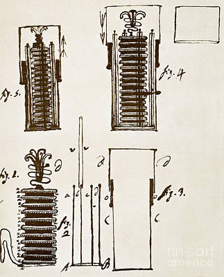First Electric Battery Art Print