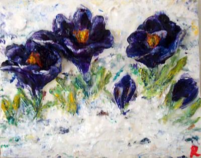First Flowers Art Print