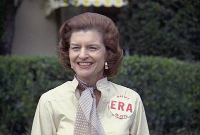 First Lady Betty Ford Sports A Button Art Print by Everett