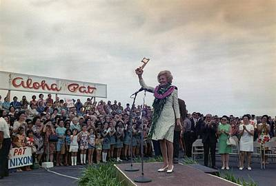 First Lady Campaigning In Hawaii. A Art Print by Everett