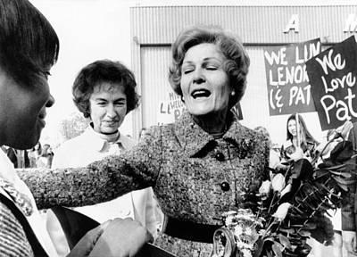 First Lady Pat Nixon Visiting Detroit Art Print by Everett