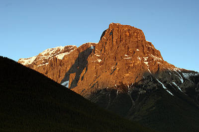 Photograph - First Light On Rugged Peak by David Frankel