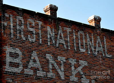 First National Bank Art Print by Tanya  Searcy