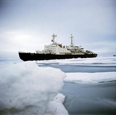 First Nuclear-powered Ship, Ns Lenin Print by Ria Novosti