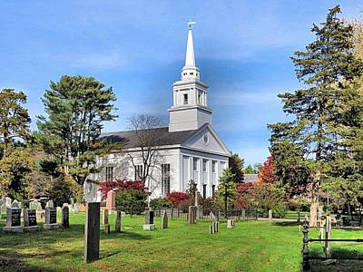 Photograph - First Parish Church by Janice Drew