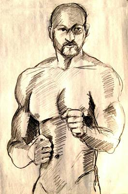 Drawing - First Pose by Robert D McBain