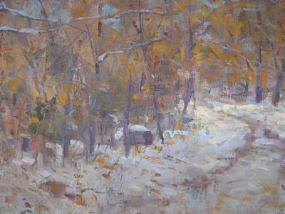 Painting - First Snow. by Bart DeCeglie