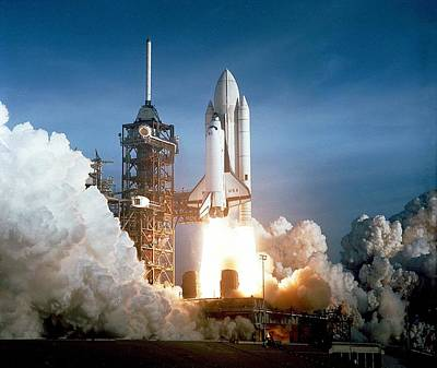 First Launch Photograph - First Space Shuttle Launch On April 12 by Everett