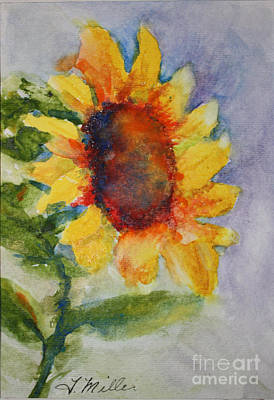 Painting - First Sunflower by Terri Maddin-Miller