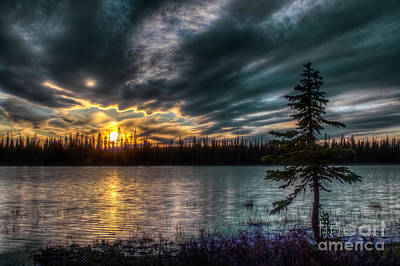 Photograph - First Sunsent Of Summer At Lily Lake 2 by Katie LaSalle-Lowery
