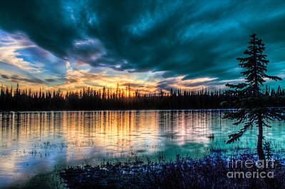 Photograph - First Sunset Of Summer Lily Lake 3 by Katie LaSalle-Lowery
