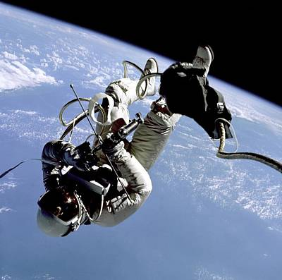 First Us Space Walk Performed Art Print