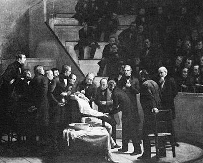 First Use Of General Anaesthesia, 1846 Art Print