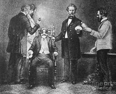 1846 Photograph - First Use Of Surgical Anesthesia, 1846 by Science Source