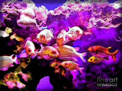 Photograph - Fish At Maui Ocean Center by Joan  Minchak