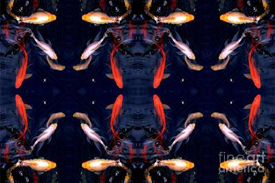 Goldfish Digital Art - Fish Ballet by Dale   Ford