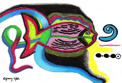 Fish Design 2 Art Print by Christine Perry