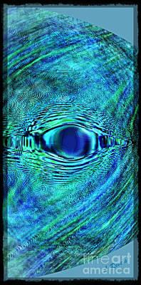 Fish Eye Art Print by Leslie Revels Andrews